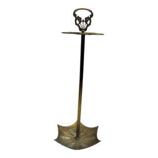 1970s Solid Brass Umbrella Stand For Sale
