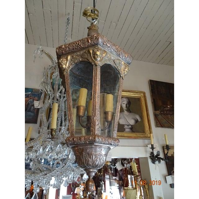 Antique Vintage French Cherub Lantern For Sale - Image 9 of 9
