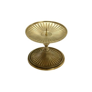 Late 20th Century Vintage Brass Candle Pedestal