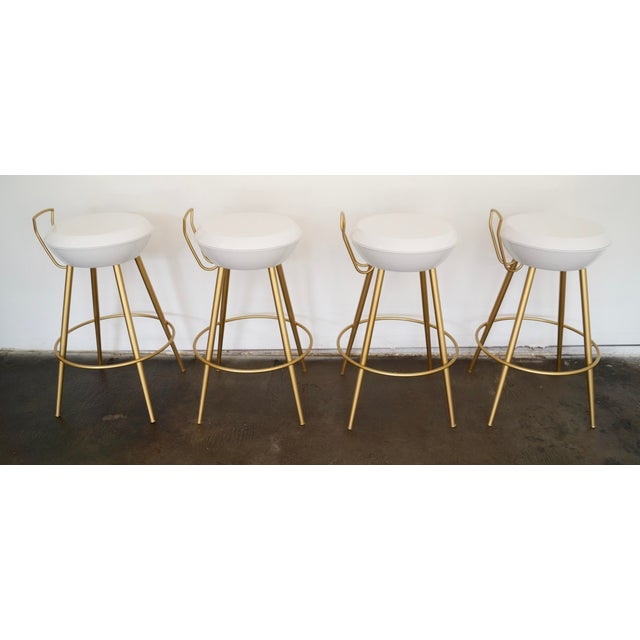 Mid-Century California Modern Bar Stools - Set of 4 - Image 4 of 11