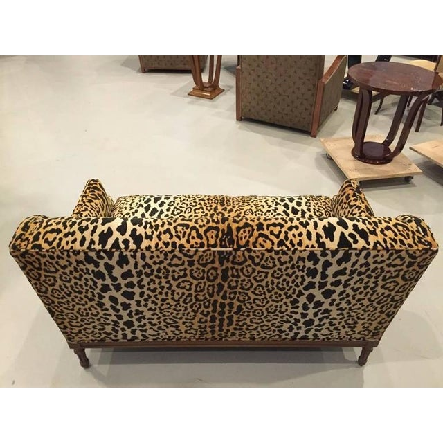 Mid-Century Leopard Print Sofa For Sale - Image 9 of 10