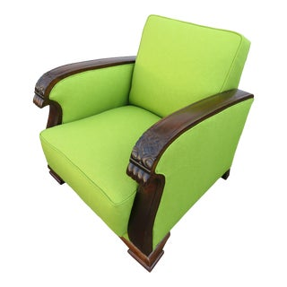 1920s Vintage Art Deco Lounge Club Chair For Sale