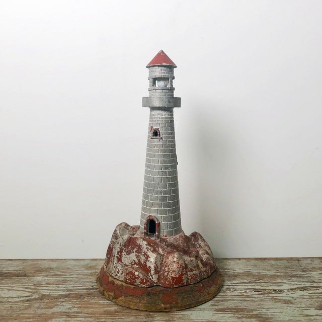 Late 20th Century Vintage Lighthouse Sculpture Table Lamp For Sale - Image 5 of 5