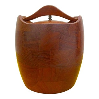 Danish Modern Bucket Humidor Denmark Storage Bin For Sale