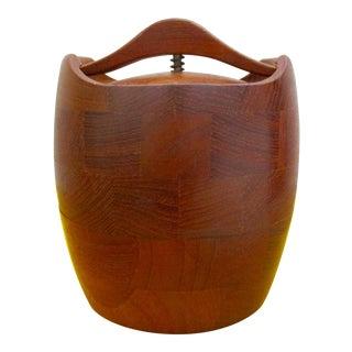Mid-Century Danish Modern Teak Wood Humidor Container Pot Urn