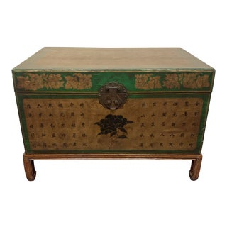 Mid 19th Century Leather Trunk For Sale