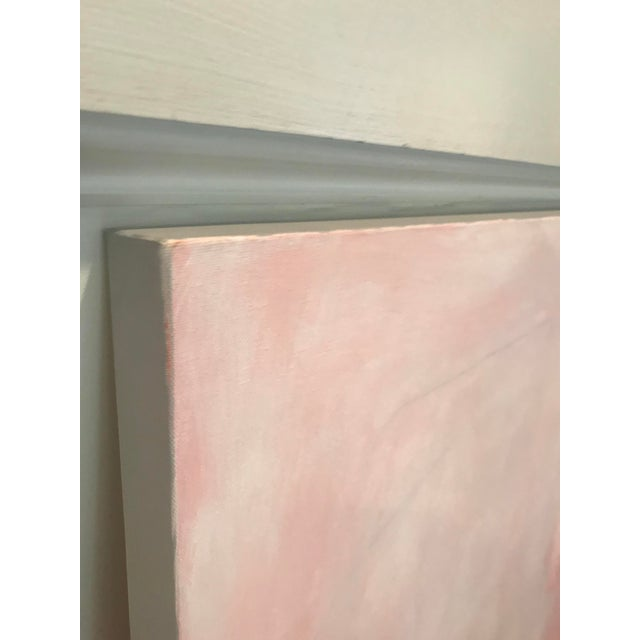"""2010s Sarah Trundle, """"Untitled: In Peach"""", Contemporary Abstract Painting For Sale - Image 5 of 5"""