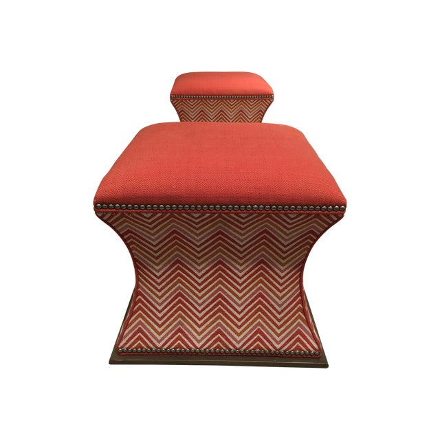 Wesley Hall Comcavo Ottomans - a Pair - Image 8 of 8