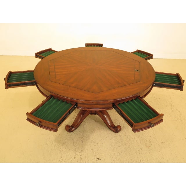Artistica Artistica Round Card Poker Games Table For Sale - Image 4 of 13