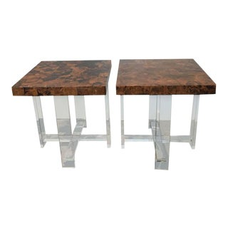Faux Tortoise Shell Table by Pegaso Gallery Design - a Pair For Sale