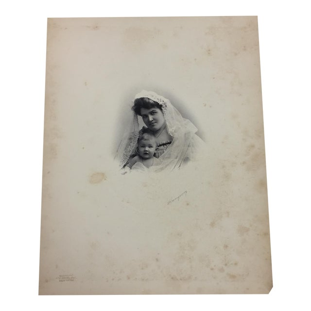 19th Century Portrait of a Mother and Baby Photograph - Image 1 of 5