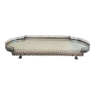 Antique Elegant 19th Century Silver-Plated Galleried Plateau