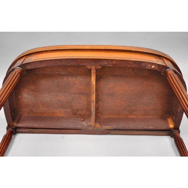 Pinwheel Inlay Flip Top Game Table Mahogany Rosewood English Sheraton Federal For Sale - Image 10 of 12