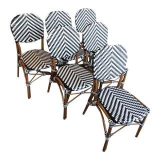 Black & White Indoor/Outdoor Bistro Chairs - Set of 6