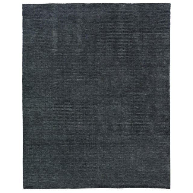 Exquisite Rugs Worcester Handwoven Wool Charcoal - 10'x14' For Sale In Los Angeles - Image 6 of 6