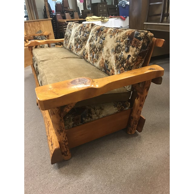 Lodge C. Selden Belden Pinecraft Furniture Lodge Style Sofa For Sale - Image 3 of 8