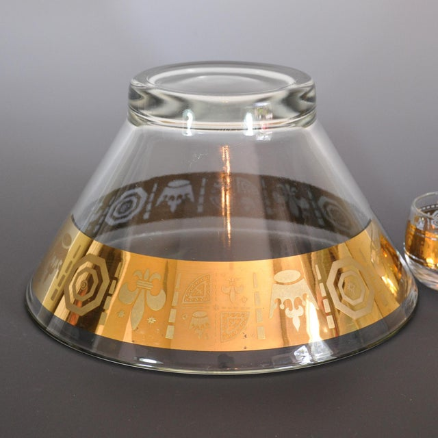 Mid-Century Modern Gold Mid Century Modern Egg Nog or Punch Set - 10 Pieces For Sale - Image 3 of 5