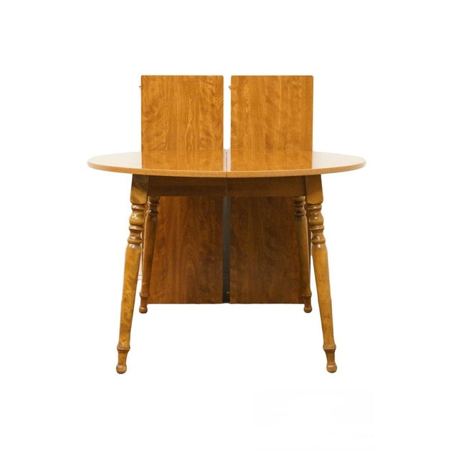 20th Century British Colonial Ethan Allen Heirloom Nutmeg Dining Table For Sale - Image 9 of 9