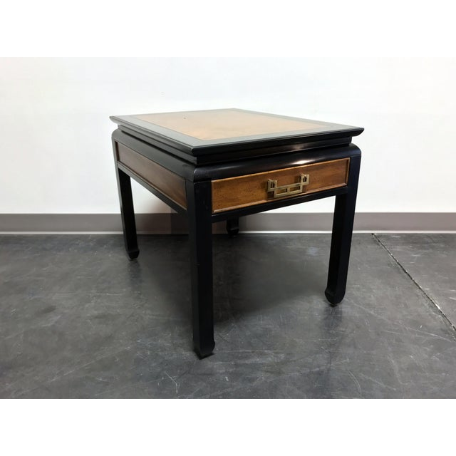 Century Chin Hua by Raymond K Sobota Burl Wood & Lacquer End Side Table 2 For Sale - Image 11 of 12