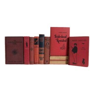 Vintage Brick & Onyx Book Set - Set of 15 For Sale