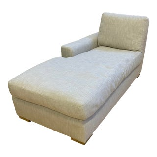 Restoration Hardware Classic Maxwell Left-Arm Chaise For Sale