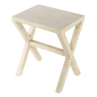 ENRIQUE GARCES TESSELLATED-BONE SIDE TABLE, CIRCA 1970S For Sale