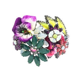 Floral Bangle Bracelet by Elizabeth Cole For Sale