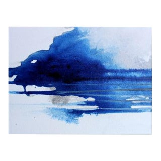 """""""Blue Line"""" Contemporary Minimalist Abstract Print For Sale"""