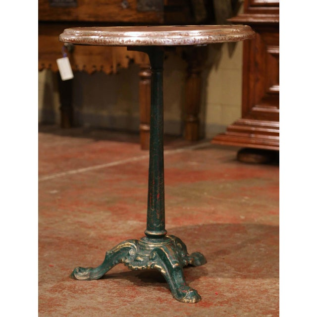 19th Century Napoleon III French Iron and Wood Gueridon Pedestal Table For Sale - Image 4 of 7