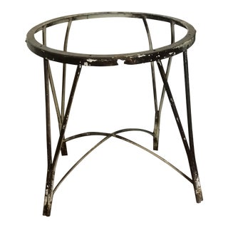 Vintage Mid-Century Modern Wrought Iron Plant Stand With Tapered Hairpin Legs For Sale