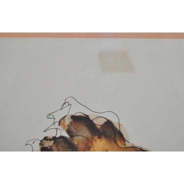 Orange Colored Lithograph by Reuven Rubin, 1960 For Sale - Image 8 of 10
