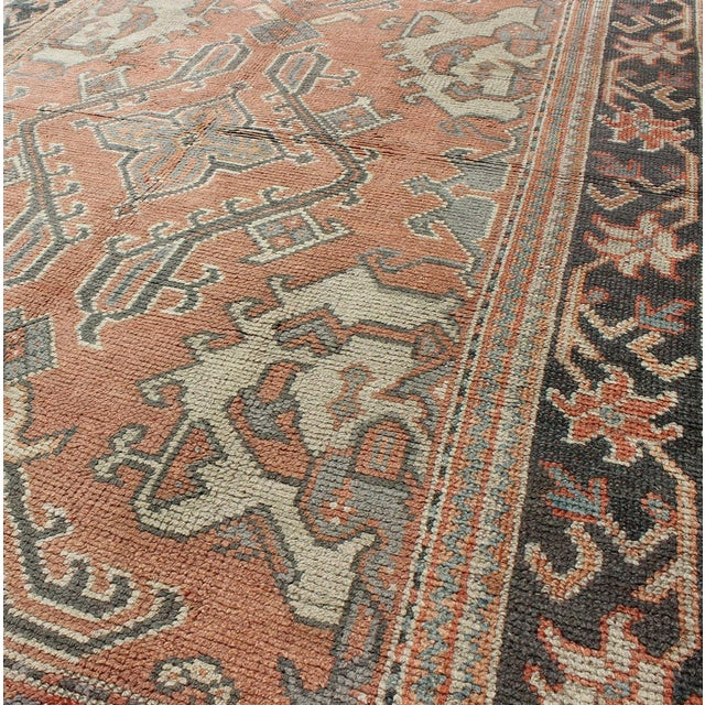 1900 - 1909 Keivan Woven Arts, F-0912, Early 20th Century Antique Turkish Oushak Rug - 5′3″ × 7′10″ For Sale - Image 5 of 8