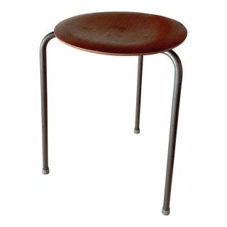 1950s Danish Modern Arne Jacobsen Fritz Hansen Dot Stool For Sale