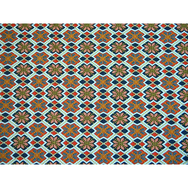 Abstract Rare 1960s Knit Heavy Weight Crimplene Fabric For Sale - Image 3 of 8