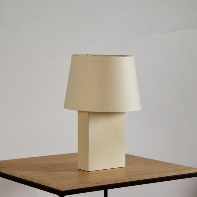 Not Yet Made - Made To Order Bloc' Parchment Table Lamp by Design Frères - a Pair For Sale - Image 5 of 7