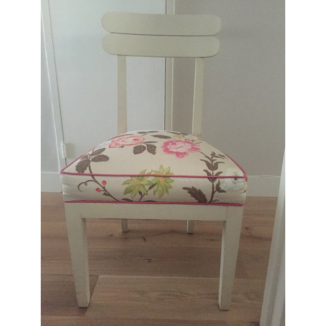 Floral Dining Room Chairs - Set of 4 - Image 4 of 7