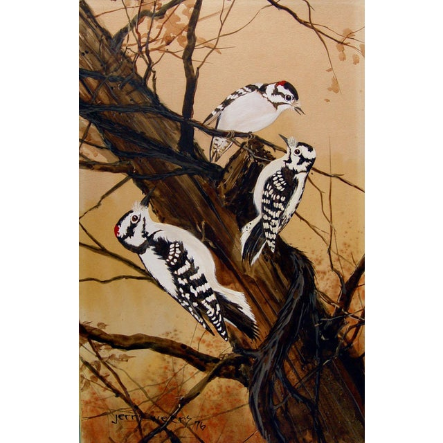 Downey Woodpeckers Painting by Jerry Weers For Sale - Image 4 of 4