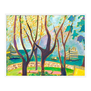 Porto Ercole 4 by Lulu DK in White Framed Paper, Small Art Print For Sale