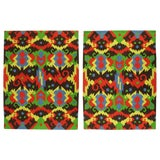 Image of Pair of 1972 Edward Fields Colorful Geometric Rugs For Sale