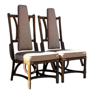 Rattan Dining Chairs - A Pair