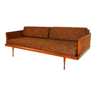 Mid Century Modern Convertible Sofa Peter Hvidt Style For Sale