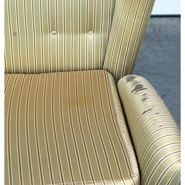 Gio Ponti Italian Modern Gio Ponti Style Upholstered Sofa For Sale - Image 4 of 7