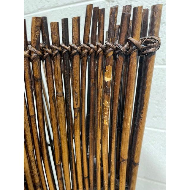 Wood Vintage Bamboo Umbrella Stand Vase For Sale - Image 7 of 9
