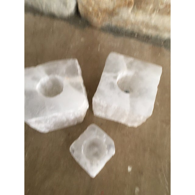 Solid Crystal Votive Holders - Set of 3 - Image 4 of 7