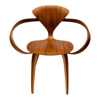 Cherner Brown Arm Chair For Sale