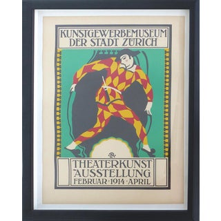 Zurich 1914 Theater Poster For Sale