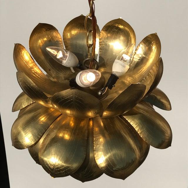 Feldman Brass Lotus Chandelier Lamp - Image 6 of 9