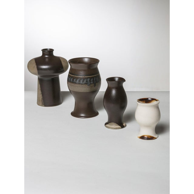 Set of 4 pieces from Terra Collection by Ambrogio Pozzi for Ceramica Franco Pozzi. Size refers to the biggest piece.