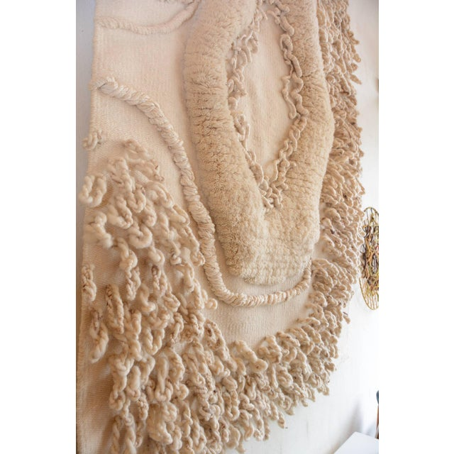 1970s Enormous White Wool Fiber Art From Robert Kidd Studios, C1975 For Sale - Image 5 of 6
