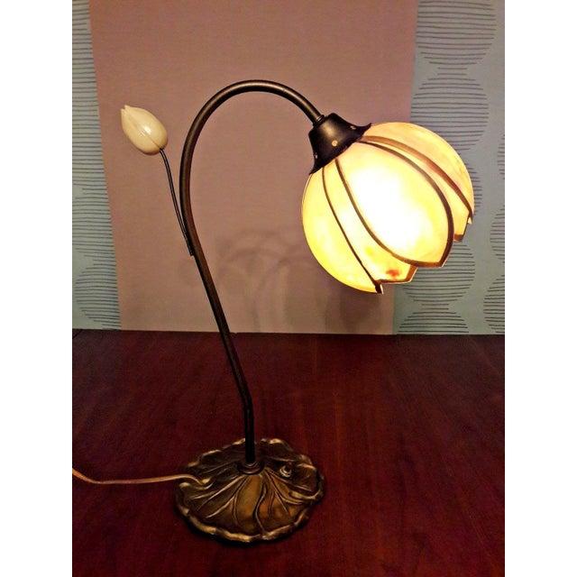 Mid-Century Faux Slag Tulip Desk Lamp - Image 2 of 7